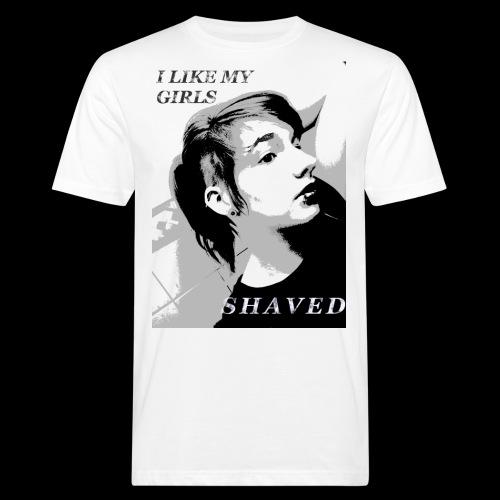 i like my girls shaved - Männer Bio-T-Shirt