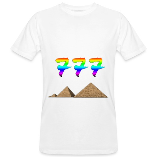 Dreierzahl 777 bunt - Männer Bio-T-Shirt