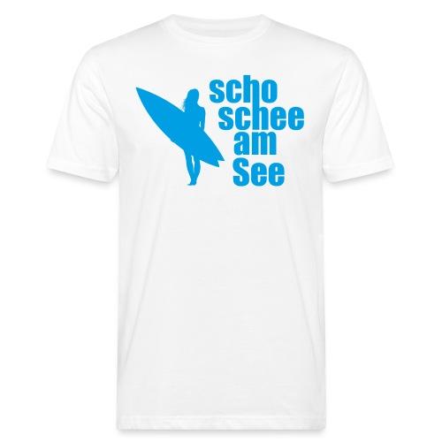 scho schee am See Surferin 03 - Männer Bio-T-Shirt