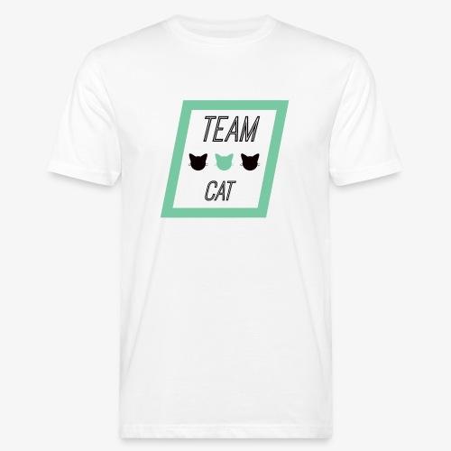 Team Cat - Slogan Tee - Ekologiczna koszulka męska