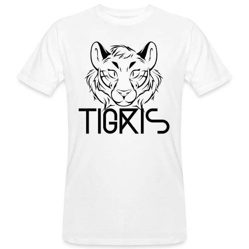 Tigris Logo Picture Text Black - Men's Organic T-Shirt