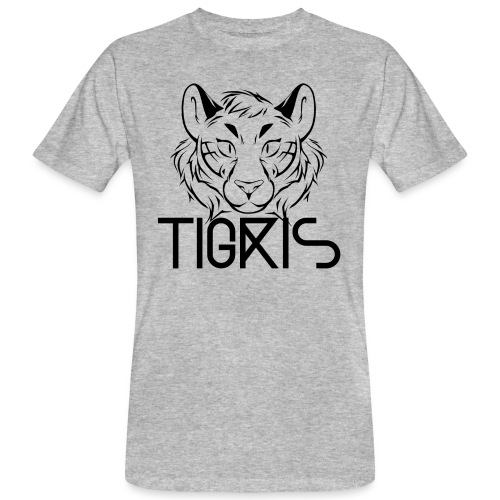 Tigris Logo Picture Text Black - Men's Organic T-Shirt