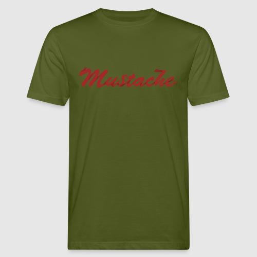 Red Mustache Lettering - Men's Organic T-Shirt