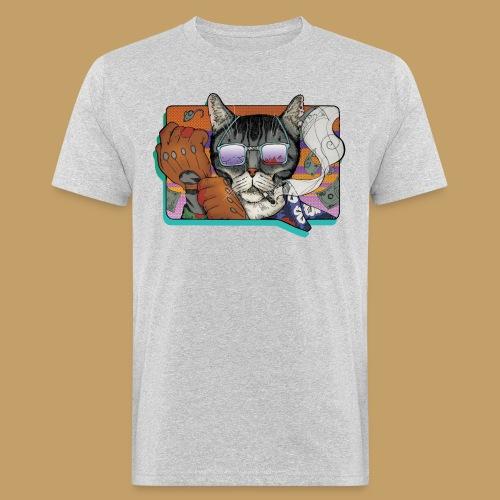 Crime Cat in Shades - Ekologiczna koszulka męska
