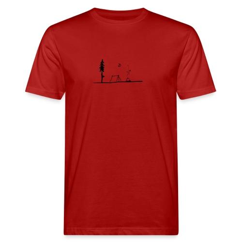 Landscape camping fire - T-shirt ecologica da uomo