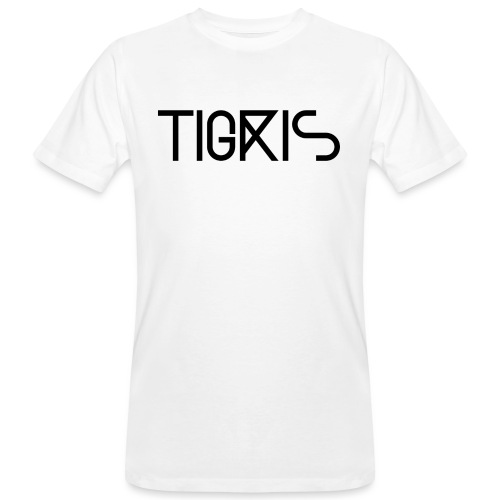 Tigris Vector Text Black - Men's Organic T-Shirt