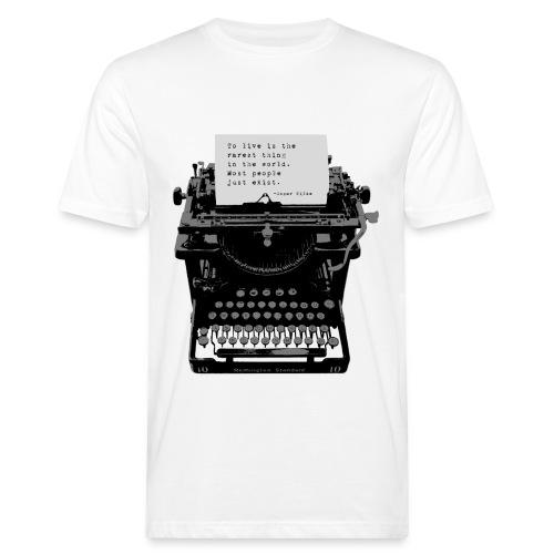 Oscar Wilde Quote on Old Remington 10 Typewriter - Men's Organic T-Shirt
