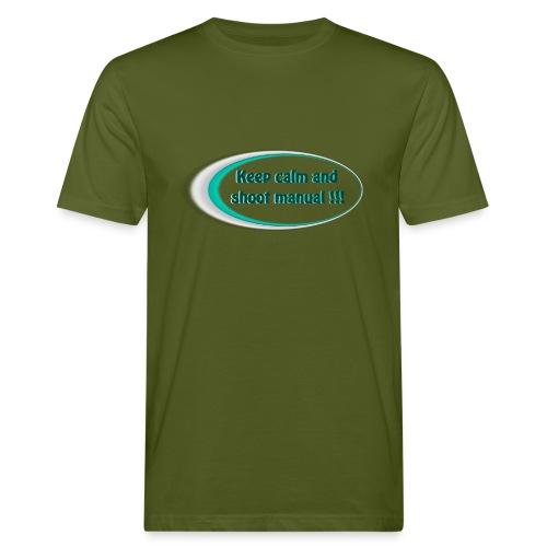 Keep calm and shoot manual slogan - Men's Organic T-Shirt