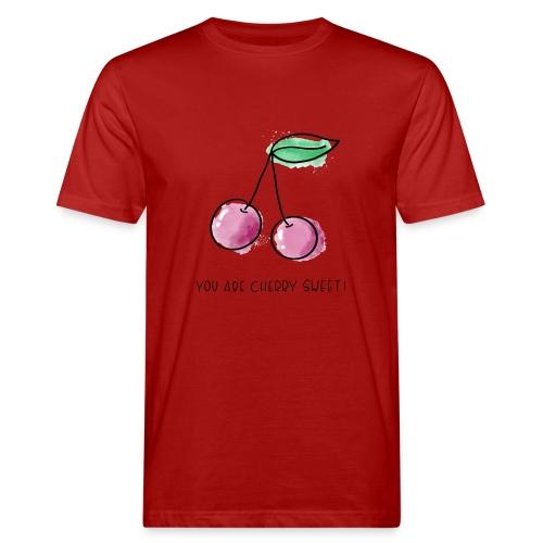 Fruit Puns n°1 Cherry Sweet - Männer Bio-T-Shirt