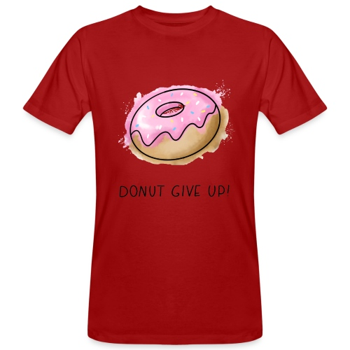 Fruit Puns n°1 Donut give up - Männer Bio-T-Shirt