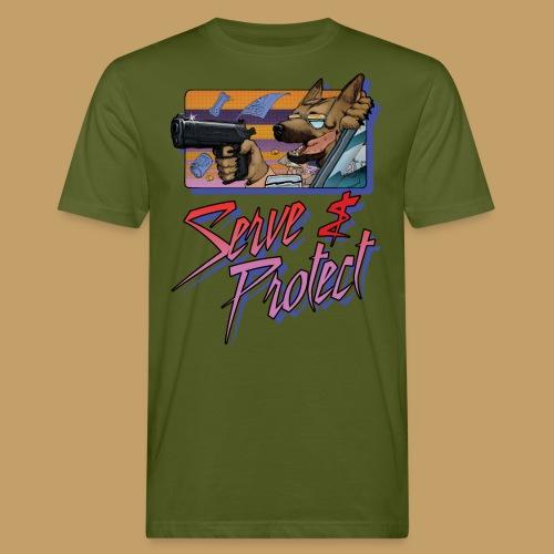 Gun Dog - Serve and protect - napis - Ekologiczna koszulka męska