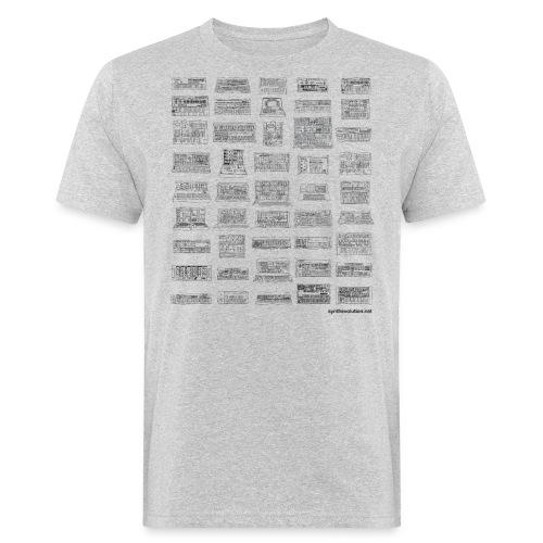 Synth Evolution T-shirt - White - Men's Organic T-Shirt