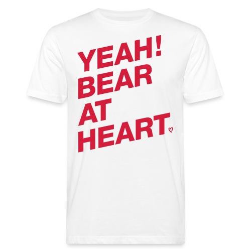 Yeah Bear at Heart - Männer Bio-T-Shirt