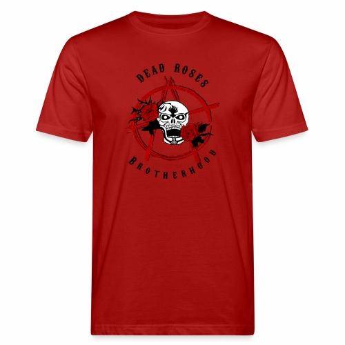 Dead Roses Anarchy Skull Black - Men's Organic T-Shirt