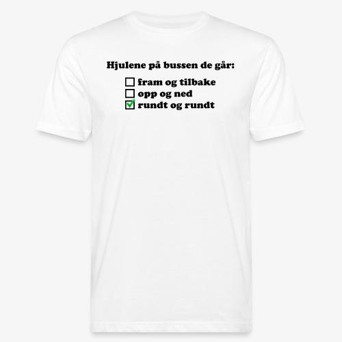 Hjulene på bussen - Økologisk T-skjorte for menn