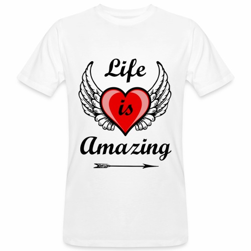 Life is Amazing - Männer Bio-T-Shirt