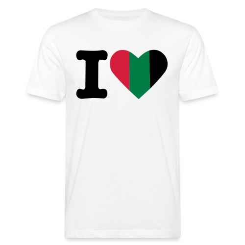 hartjeroodzwartgroen - Mannen Bio-T-shirt