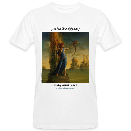 JakeBaddeley Sagittarius white - Men's Organic T-Shirt