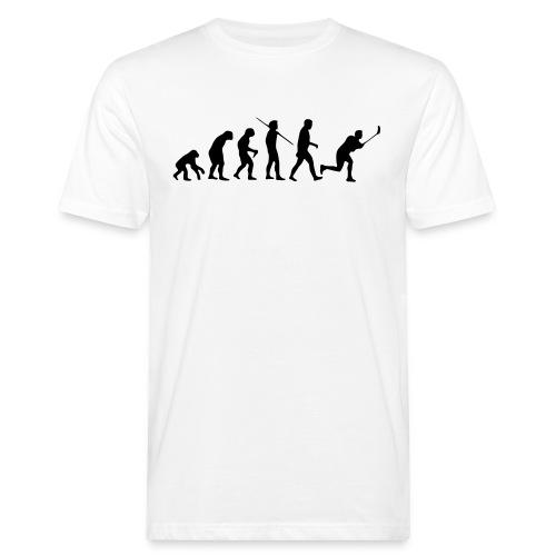 Floorball Evolution Black - Männer Bio-T-Shirt
