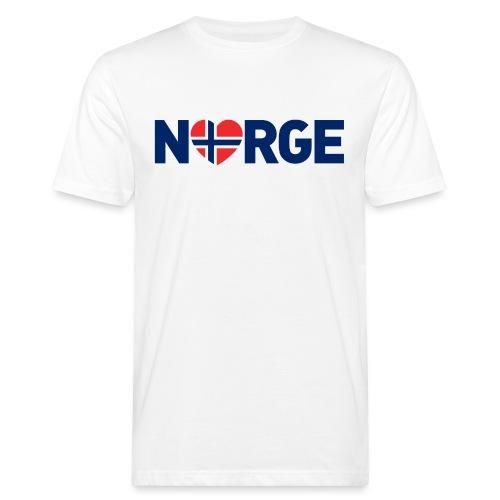 Elsker Norge - fra Det norske plagg - Økologisk T-skjorte for menn