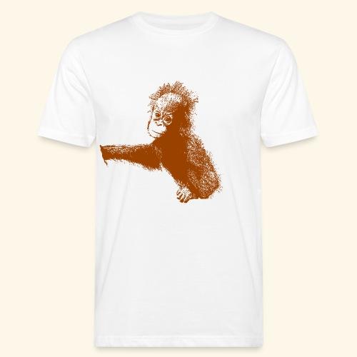 Orang-Utan-Baby braun - Männer Bio-T-Shirt