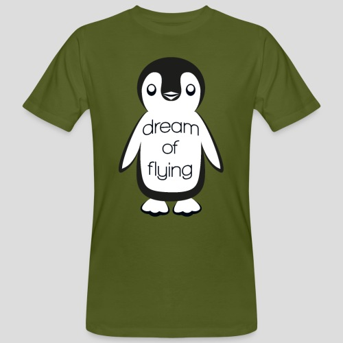 Dream of Flying Pinguin - Men's Organic T-Shirt