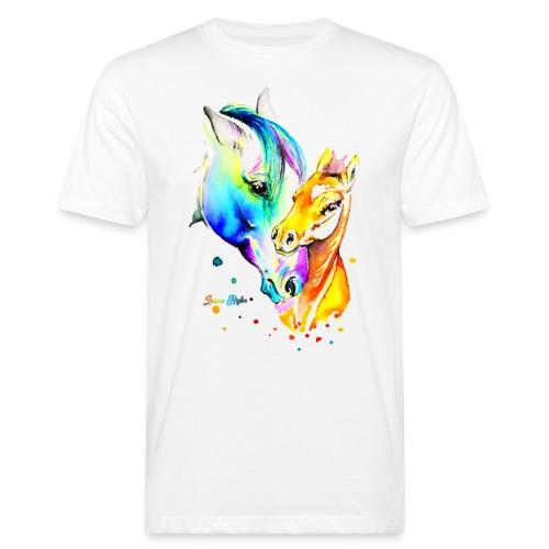 Jument et son poulain - T-shirt bio Homme