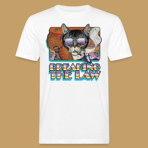 Crime Cat in Shades - Braking the Law - Ekologiczna koszulka męska