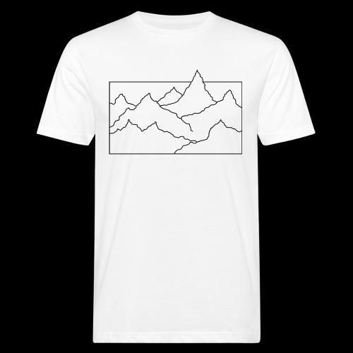 Kontur Gebirge schwarz - Männer Bio-T-Shirt