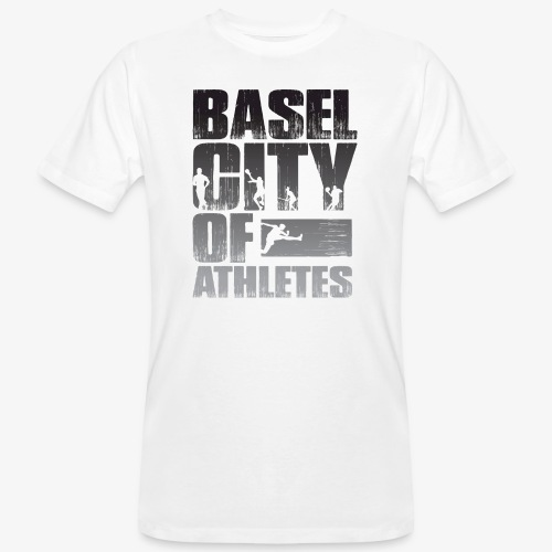 Basel City of Athletes B/W - Männer Bio-T-Shirt