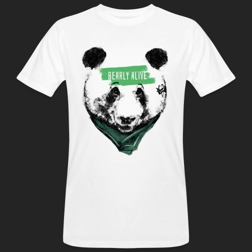 Panda bearly alive - T-shirt bio Homme