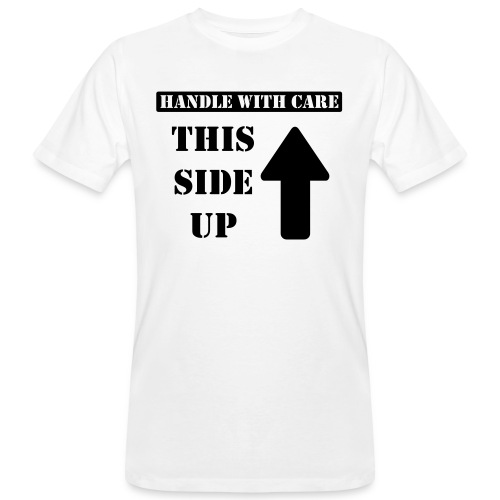 Handle with care / This side up - PrintShirt.at - Männer Bio-T-Shirt
