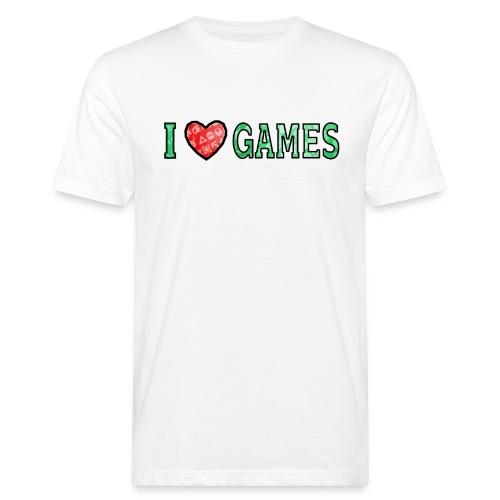 I Love Games - Ekologiczna koszulka męska
