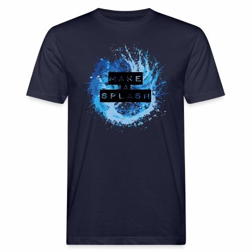 Make a Splash - Aquarell Design in Blau - Männer Bio-T-Shirt