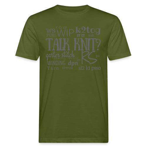 Talk Knit ?, gray - Men's Organic T-Shirt
