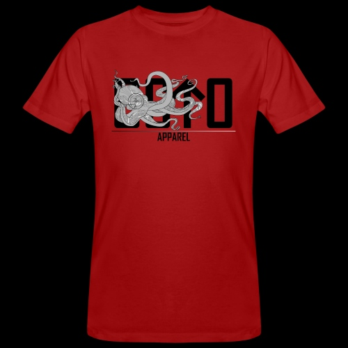 OctoApparel Logo schwarz - Männer Bio-T-Shirt