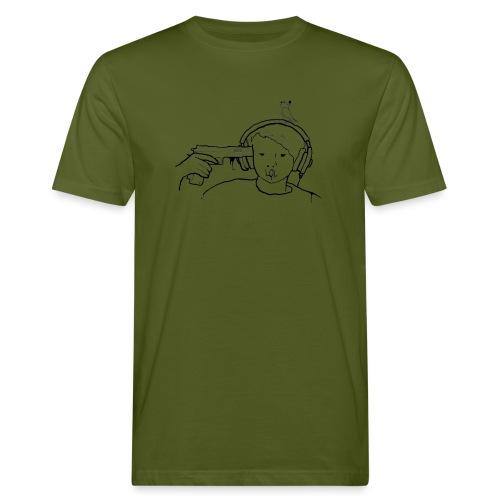 kys valkoinen - Miesten luonnonmukainen t-paita