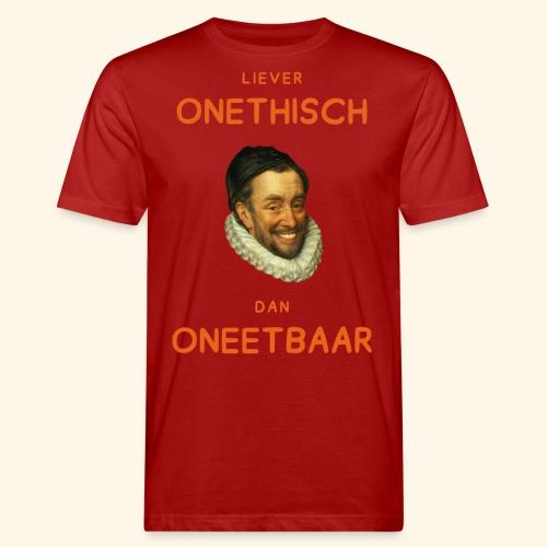 Liever onethisch dan oneetbaar - Mannen Bio-T-shirt