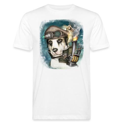 Steampunk Dog #2b - T-shirt ecologica da uomo