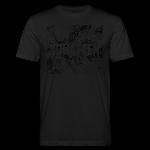 Hoehenlinien schwarz Schatten - Männer Bio-T-Shirt