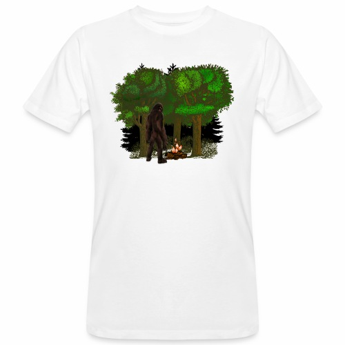 Bigfoot Campfire Forest - Men's Organic T-Shirt