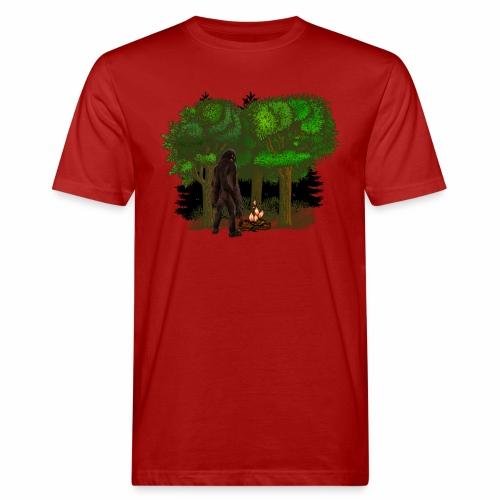 Bigfoot Campfire Forest - Men's Organic T-Shirt