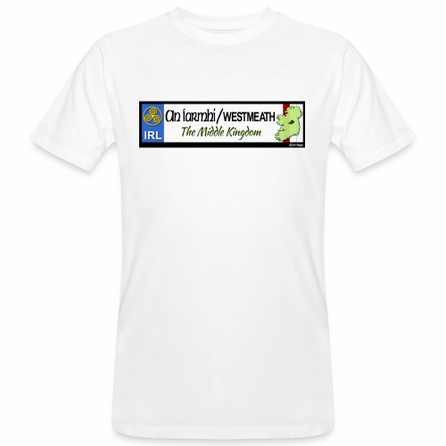 WESTMEATH, IRELAND: licence plate tag style decal - Men's Organic T-Shirt