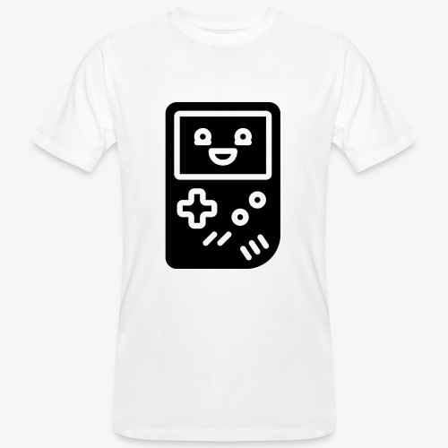 Smiling game console (black, inverted) - Men's Organic T-Shirt