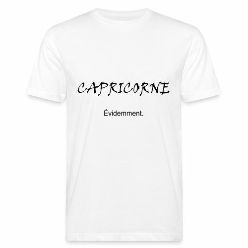 Capricorne évidemment, noir - T-shirt bio Homme