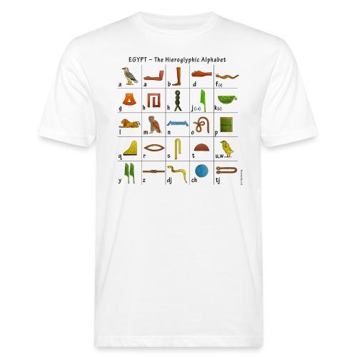 Ägyptisches Alphabet - Männer Bio-T-Shirt