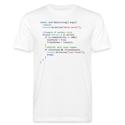 Love seen by a C# programmer - T-shirt ecologica da uomo