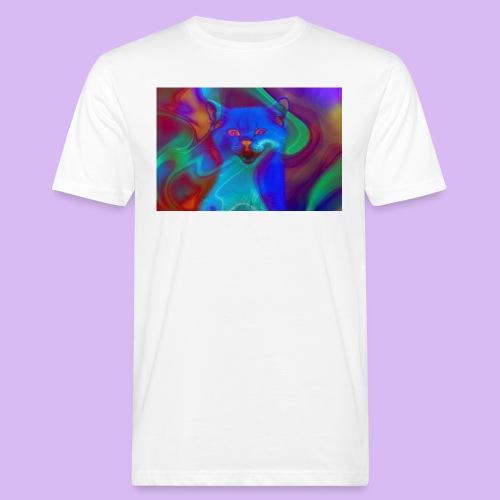 Gattino con effetti neon surreali - T-shirt ecologica da uomo