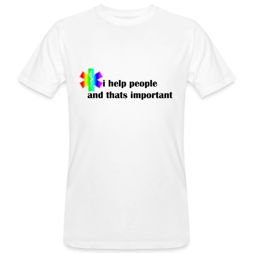 i help people - Mannen Bio-T-shirt