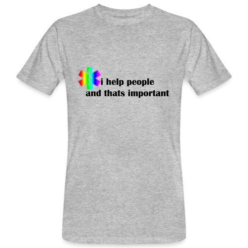 i help people - Mannen Bio-T-shirt